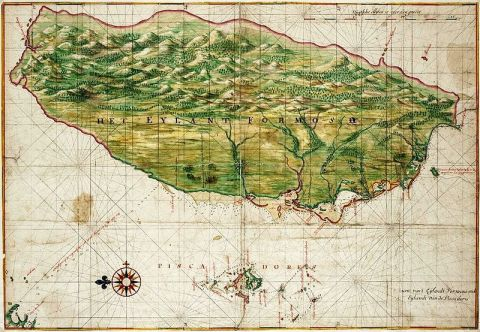 Map of Formosa, 1640. Cartographer: Johannes Vingboons Source: National Palace Museum
