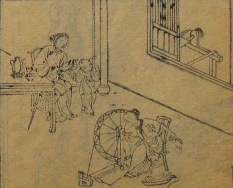 Like this young woman, pictured in Yu Zhi's 學堂日記圖說.